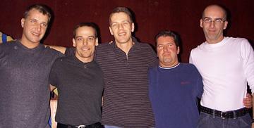 Les cinq fondateurs d'ACC: Luc Hurtubise, Yves Leclerc, Dominique Lampron, Sylvain Dugas et Marc Pageau.